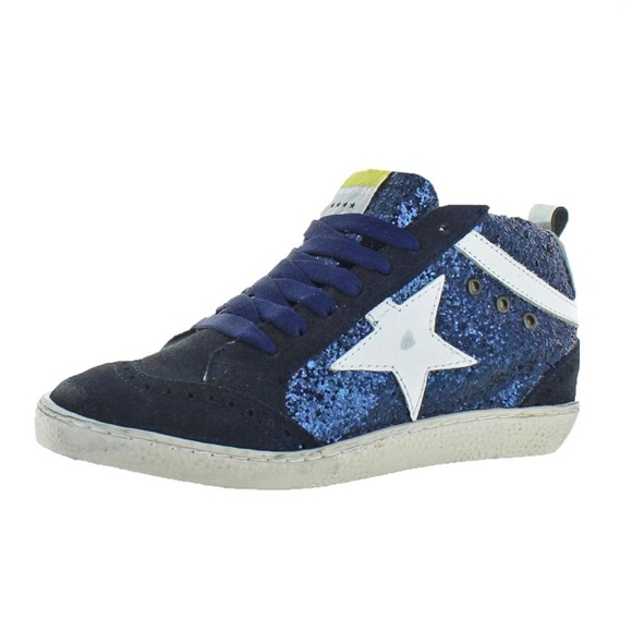 Freebird Navy Mid top Leather Fashion Sneaker 8